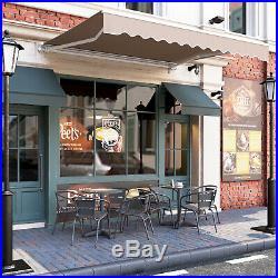 10' 8' Patio Awning Retractable Sunshade Anti-UV for Courtyard Balcony Shop Cafe