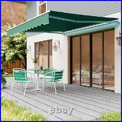 10'×8' Retractable Patio Awning Aluminum Door Deck Sun Shade Shelter Outdoor