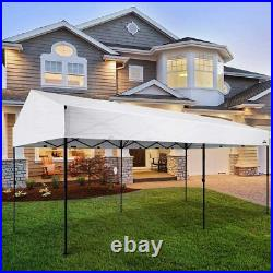 10' X 20' Easy Pop Up Canopy Party Tent Heavy Duty Garage Car Shelter, White