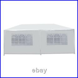 10 X 20 White Wedding Party Tent Gazebo Canopy with 6 Removable Sidewalls