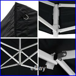 10 X 20 ft Outdoor Wedding Party Tent EZ Pop Up Canopy Sidewall Carry Bag Black