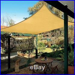10'X13' Rectangle Sun Shade Sail Garden Patio Sunscreen Awning Canopy Screen