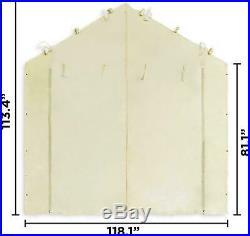 10'X20' Garage Tent Carport Car Shelter Sidewall Canopy Caravan Cover Enclosure