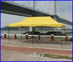 10'X20' Outdoor Easy Pop up Tent Shelter Canopy Gazebo Pavilion Heavy DutyYellow