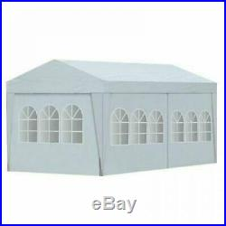 10'X20' White Temporary Portable Garage Carport Car Shelter Outdoor Canopy Tent