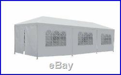 10'X30' White Outdoor Portable Garage Carport Car Shelter Outdoor Canopy Tent