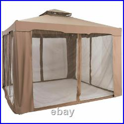 10'x 10' Canopy Gazebo Tent Shelter WithMosquito Netting Outdoor Patio