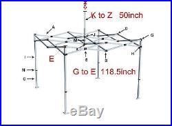 10 x 10 Outdoor Canopy EZ Pop Up Gazebo Tent Replacement Top Polyester Cover
