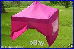 10' x 10' Pop Up Canopy Party Tent Gazebo EZ Pink E Model