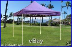 10' x 10' Pop Up Canopy Party Tent Gazebo EZ Purple E Model