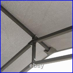 10' x 10' Soft Top Patio Outdoor Canopy Gazebo Tent Steel Fabric Grey