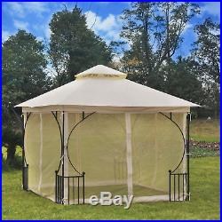 10 x 10 ft Outdoor Gazebo Canopy Garden Patio Wedding Party Shelter WithNetting