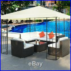 10 x 10 ft Patio Gazebo Canopy Tent Steel Frame Shelter Patio Party Awning Cover