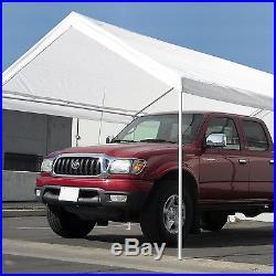 10 x 20 Caravan Canopy Domain Carport White Portable Garage Tent Car Shelter