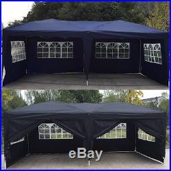 10'x 20' EZ Pop UP Wedding Party Tent Gazebo Canopy 6 Sidewalls withCarry Bag