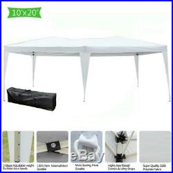 10'x 20' EZ Pop-up Folding Wedding Party Patio Marquee Canopy Tent Gazebo 2 Room