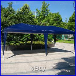 10'x 20' Easy Pop Up Gazebo Canopy Cover waterproof Wedding Party Tent