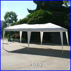10' x 20' Ez Pop Up Gazebo Wedding Party Tent Folding Garden Canopy With Carry Bag