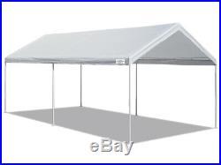 10 x 20 FT Caravan Carport Canopy Heavy Duty Tent Steel Car Shelter 6 leg White