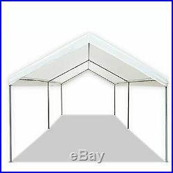 10 x 20 FT Carport Heavy Duty Canopy Tent Steel Caravan Car Shelter 6 leg White