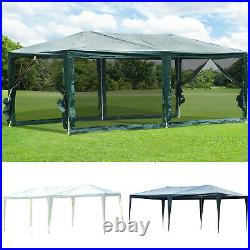 10' x 20' Gazebo Canopy Cover Tent Patio Party with Removable Mesh Side Walls