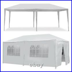 10 x 20' Gazebo Party Tent with 6 Side Walls Wedding Canopy Cater Events Outdoo