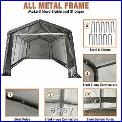 10' x 20' Heavy Duty Carport Portable Garage Enclosed Car Canopy Outdoor GREY