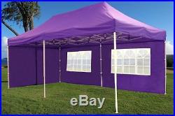 10' x 20' Pop Up Canopy Party Tent Gazebo EZ Purple E Model