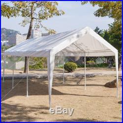 10 x 20 ft Car Port Canopy Gazebo Tent Cover with 8 Leg Steel Frame Garage