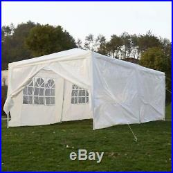 10 x 20 ft Carport Canopy Tent with Sidewalls White Cover Car Portable Garage
