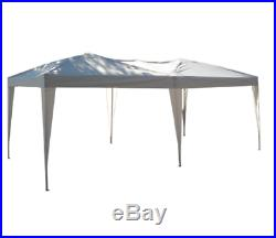 10 x 20 white Outdoor Gazebo Pop Up Canopy Party Tent with 2-Tier Roof