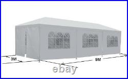10' x 30' Gazebo Canopy Event Wedding Party Tent With Side Walls BBQ Outdoor