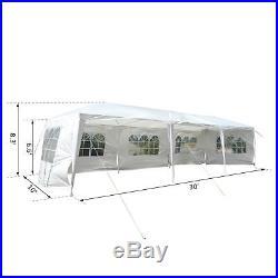 10' x 30' Gazebo Canopy Party Wedding Tent with 5 Removable Window Sidewalls