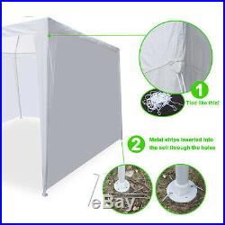 10' x 30' White Gazebo Wedding Party Tent Canopy With 8 Sidewalls Outdoor