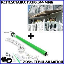 10' x 8' / 12' x 10'/ 8'x6' Patio Awning Retractable Motorized Manual Tan Shade