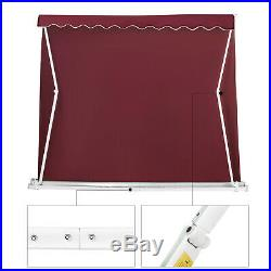 10' x 8' Manual Patio Sunshade Shelter Retractable Window Awning Canopy Outdoor