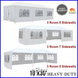 10'x10'/20'/30' Party Wedding Tent Outdoor Gazebo Heavy Duty Pavilion Event