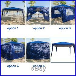 10'x10' EZ POP-UP Party Wedding Tent Folding Gazebo Beach Canopy Blue Garden New