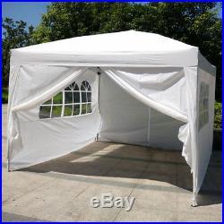 10'x10'EZ Pop UP Wedding Party Tent Folding Gazebo Home WithSIDES & Carry Bag