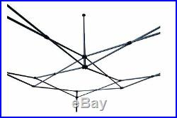 10'x10' Enclosed Pop Up Canopy Party Folding Tent Gazebo Blue White E Model