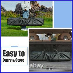10'x10' Fodling Pop Up Tent Gazebo Canopy Mesh Sidewall WithCarry Bag