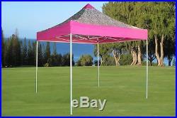 10'x10' Pop Up Canopy Party Tent EZ Pink Zebra F Model Upgraded Frame