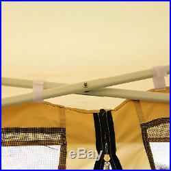 10'x10' Pop Up Party Tent Gazebo Outdoor Wedding Activity with Mosquito Screen