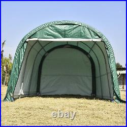 10'x10'x8' / 10'x15'x8' ft Carport Canopy Tent Shelter Garage Storage Shed Green