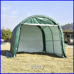 10'x10'x8' Canopy Carport Tent Steel Frame Storage Shed Car Shelter Outdoor