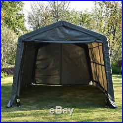 10u0027x15u0027x8u0027 FT Storage Shed Logic Shelter Car Garage Tent Steel Carport & 10u0027x15u0027x8u2032 FT Storage Shed Logic Shelter Car Garage Tent Steel ...
