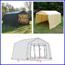 10'x15'x8' FT Storage Shed Tent Logic Shelter Car Garage Steel Carport Canopy