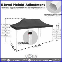 10 x20 EZ Pop UP Wedding Party Tent Folding Gazebo Canopy Heavy Duty/ Carry Case