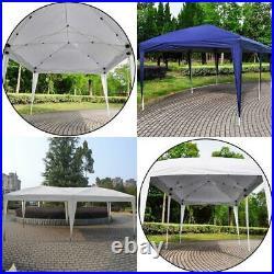 10'x20' Folding EZ Pop UP Wedding Party Tent Gazebo Canopy Heavy Duty/ Carry Cas