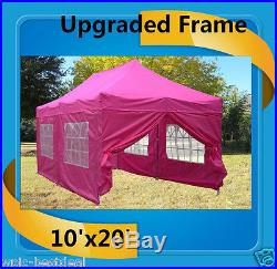 10'x20' Pop Up Canopy Party Tent EZ Pink F Model Upgraded Frame